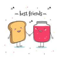migliori amici vettoriale