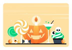 Vector elementi di Halloween e accessori