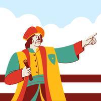 Illustrazione di vettore di concetto di festa di USA di Columbus Day National