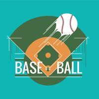 Illustrazione di un diamante da baseball vettore