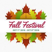 Fall Festival Moderna minimalista Poster vettoriale modello