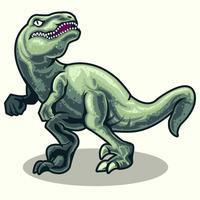 Raptor di dinosauri realistici vettore
