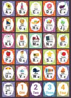Pacchetto di vettore di scuola tema alfabeti