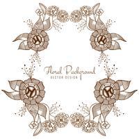 Vettore di disegno floreale di nozze artistiche moderne
