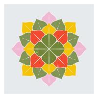 Fiori succulenti Desert Plant Linoleografia stile vettore