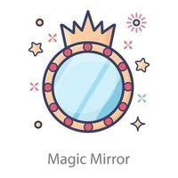 oggetto specchio magico vettore