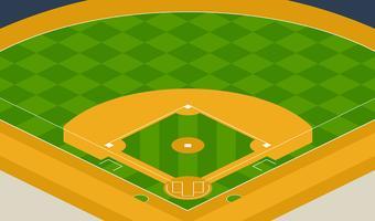 Illustrazione del parco di baseball