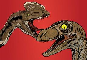 Realistico disegno vettoriale di dinosauro