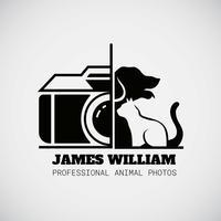 Logo del fotografo animale vettore