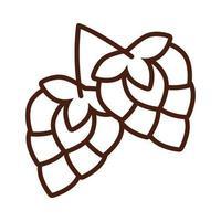 icona di stile della linea di semi di luppolo vettore