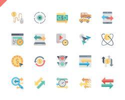 Icone piane di traffico Set semplice vettore
