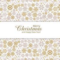 Cartolina d'auguri di buon Natale con disegno di fiocchi di neve