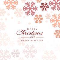 Vettore variopinto decorativo del fondo dei fiocchi di neve di Natale