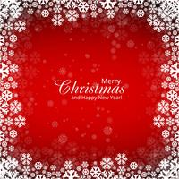 Illustrazione rossa del fondo dei fiocchi di neve di Buon Natale