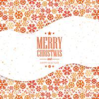 Fondo decorativo di festival dei fiocchi di neve della cartolina di Natale