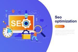 Ottimizzazione SEO banner web moderno concetto piatto