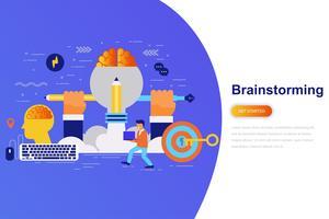 Banner web moderno concetto piatto di brainstorming