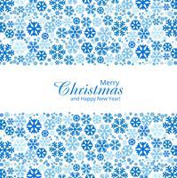 Vettore decorativo di progettazione dei fiocchi di neve di Natale