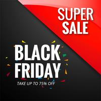 Estratto nero venerdì vendita layout di sfondo