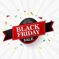 Illustrazione vettoriale Sfondo di vendita venerdì nero, brochure, bann