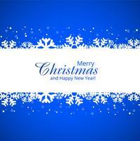 Cartolina d'auguri di Buon Natale con il illustr del fondo dei fiocchi di neve