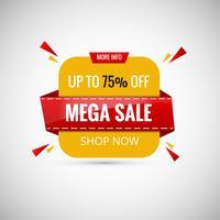 Mega Sale Banner Design. Illustrazione vettoriale