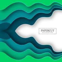 Illustrazione variopinta astratta della priorità bassa del papercut dell'onda