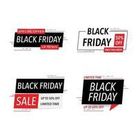 venerdì nero vendita badge ed etichetta promozione vendita miglior prezzo illustrazione vettoriale design piatto vendita tag