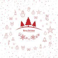 Vettore decorativo del fondo della cartolina d'auguri di Buon Natale