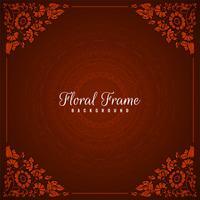 Fondo rosso della struttura floreale astratta vettore