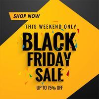 Bella priorità bassa del manifesto di vendita di venerdì nero