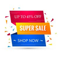 Super Sale Banner Design. Illustrazione vettoriale