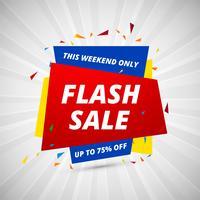Modello di disegno colorato di Flash banner creativo di vendita vettore