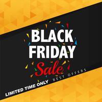 Bella illustrazione della priorità bassa del manifesto di vendita di venerdì nero