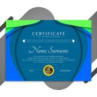 Disegno astratto modello di certificato