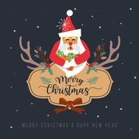 Buon Natale Greeting Card Design. Illustrazione vettoriale