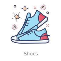 paio di scarpe design di calzature da uomo vettore