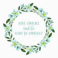 Vector essere gentile corona floreale