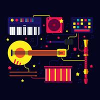 Vettore di Knolling dello strumento musicale