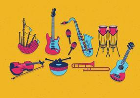 Vettore di Knolling degli strumenti musicali