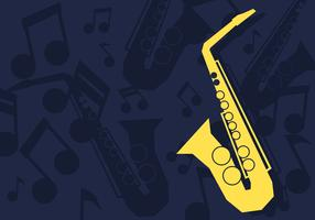 Illustrazione vettoriale di sassofono