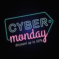 Neon Cyber Monday Sale vettore