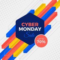 Banner di vendita di Cyber Monday vettore