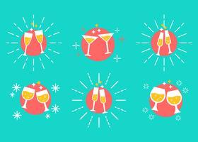 vettore di brindisi di champagne