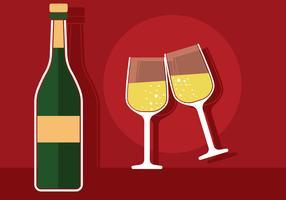 illustrazione di brindisi di champagne