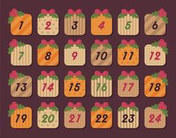 Vettore del calendario dell'avvento