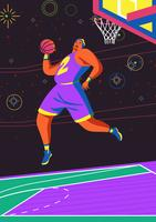 Azione del giocatore di pallacanestro vettore
