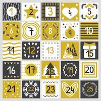 Vector stampabile calendario dell'avvento
