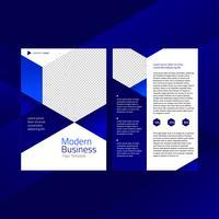 Modello di volantino esagonale moderno business