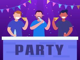 Vettori funky di parti e raduni